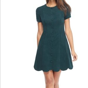Gal meets glam Michelle scalloped corduroy dress